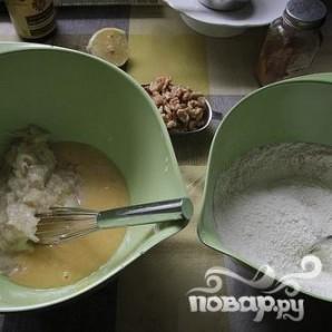 Грушевый хлеб с орехами и клюквой - фото шаг 2