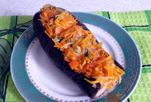 Баклажаны с морковкой фаршированные - фото шаг 5