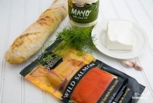 Бутерброды с красной рыбой - фото шаг 1