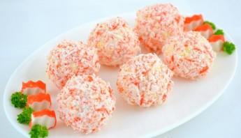 Крабовые шарики с сыром - фото шаг 6