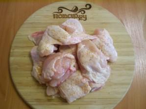 Курица с картошкой и овощами в духовке - фото шаг 4