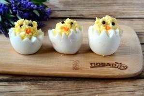 """Вареные яйца на Пасху """"Цыплята"""" - фото шаг 3"""