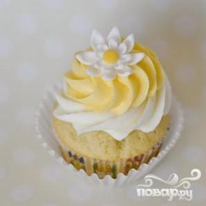 Лимонные капкейки с кремом - фото шаг 3