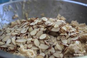 Овсяное печенье с белым шоколадом и миндалем - фото шаг 5