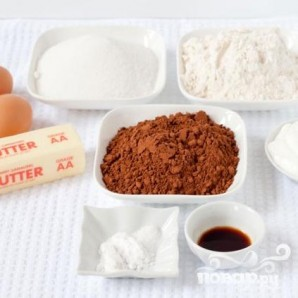 Шоколадные капкейки с мятным кремом - фото шаг 1