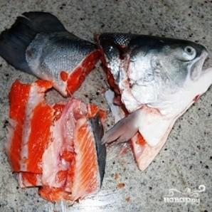 Соленая красная рыба - фото шаг 4