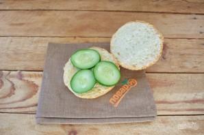 "Бургер ""Овощные прятки"" - фото шаг 6"