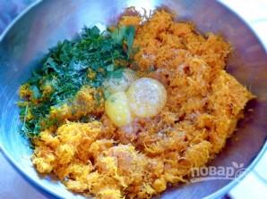 Морковный рулет с сыром и зеленью - фото шаг 3