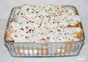 """Заварной торт """"Дамские пальчики"""" - фото шаг 4"""
