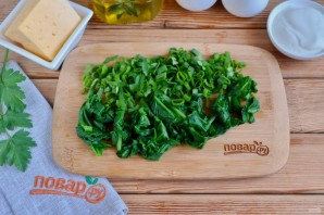 Лаваш с яйцом и шпинатом - фото шаг 3