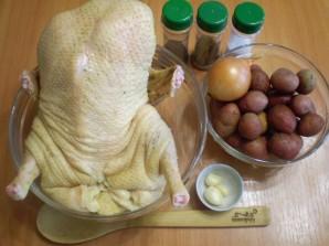 Утка в духовке с картофелем - фото шаг 1