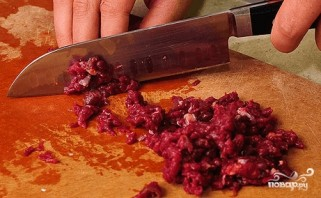 Самса из слоеного теста с мясом - фото шаг 1