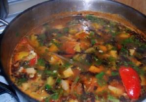 Кавказский суп из баранины   - фото шаг 15