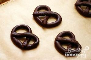 Шоколадные крендели - фото шаг 2