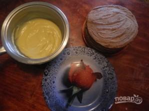 Быстрый торт на сковороде с заварным кремом - фото шаг 15