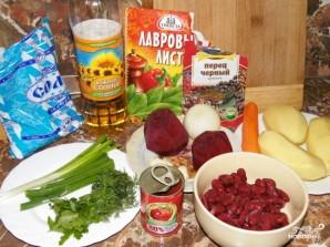 Борщ с консервированной фасолью - фото шаг 1