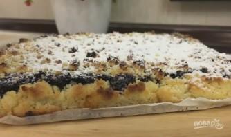 Домашний тёртый пирог с черникой - фото шаг 7