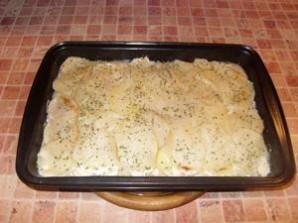 Камбала в духовке с картошкой - фото шаг 9