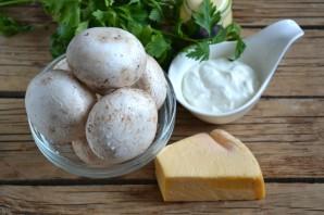 Грибы под сырным соусом - фото шаг 1