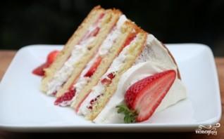 Торт с творогом и клубникой - фото шаг 10