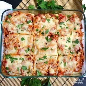 Запеченные спагетти с сосисками - фото шаг 10