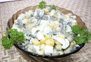 Салат из морской капусты с кукурузой - фото шаг 3