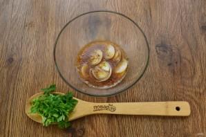 Теплый салат с пастой и запеченными овощами - фото шаг 4
