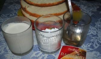Бисквитный торт в мультиварке - фото шаг 6
