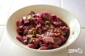Корейская лапша с мясом - фото шаг 3