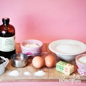 Шоколадные капкейки с кремом и шоколадной глазурью - фото шаг 1