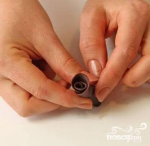Шоколадные розы - фото шаг 4