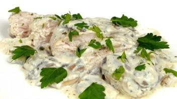 Куриное филе в сливочно-грибном соусе - фото шаг 4