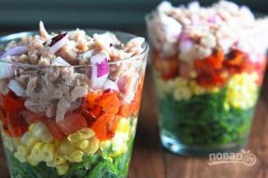 Салат с тунцом слоеный - фото шаг 4