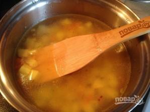 Суп с манкой и зеленым горошком - фото шаг 4