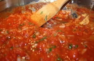 Паста с фрикадельками в томатном соусе - фото шаг 5