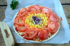 "Овощная пицца ""Солнышко"" - фото шаг 4"