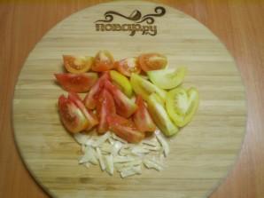 Быстрые помидоры с чесноком - фото шаг 2