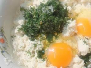 Сырники с зеленью - фото шаг 2