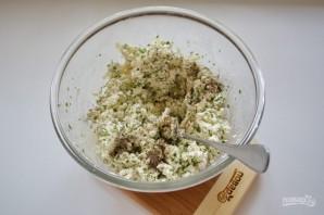 Витой пирог с творожно-сырной начинкой - фото шаг 5