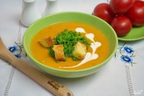 Сливочный томатный суп с базиликом  - фото шаг 10