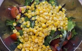 Овощной салат с креветками - фото шаг 5