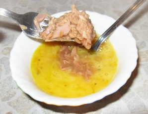 Омлет с тунцом и помидорами   - фото шаг 3