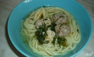 Суп с фрикадельками и лапшой - фото шаг 6