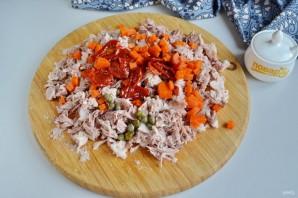 Террин из свиной рульки с каперсами и вялеными томатами - фото шаг 5