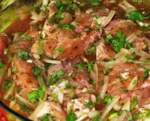 Мясо по-французски с баклажанами - фото шаг 5