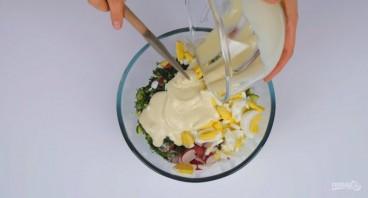 Простой и легкий салат без майонеза - фото шаг 3
