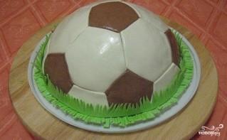 """Торт """"Футбольный мяч"""" - фото шаг 6"""