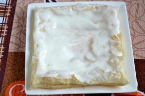 Слоеное тесто торт пошаговый рецепт с