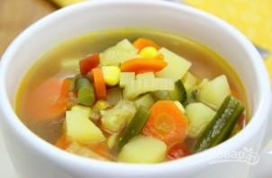 Суп на овощном бульоне - фото шаг 9