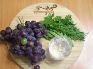 Зеленый коктейль с виноградом - фото шаг 1